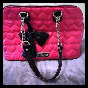Betsey Johnson heart handbag